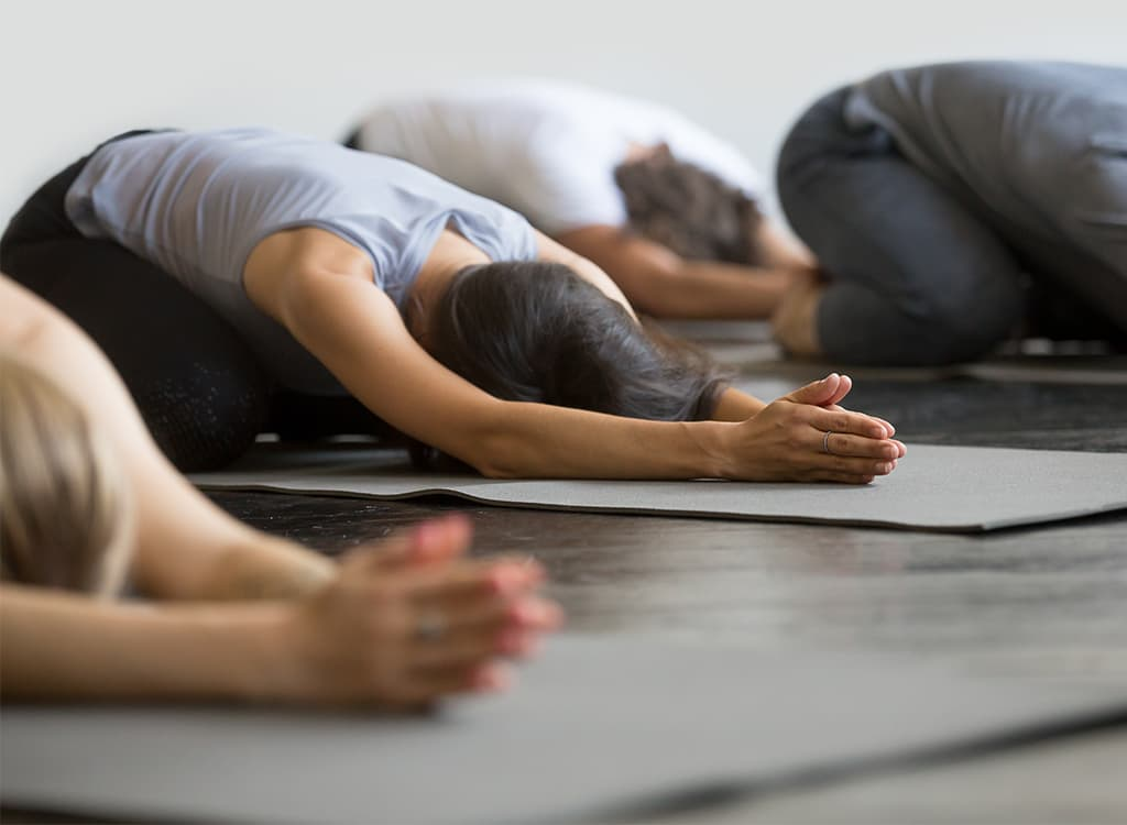 Improved flexibility from yoga